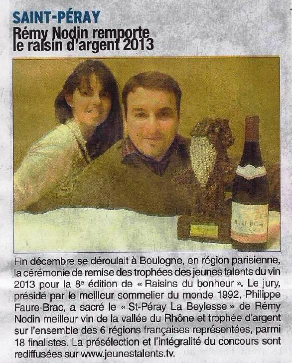 ARTICLE DAUPHINE 03 01 2014